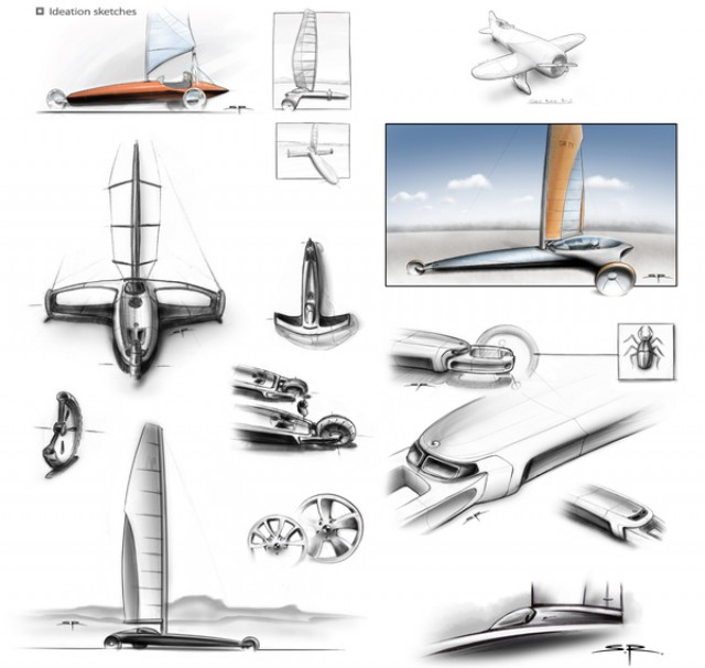 Stefan Radev   Blue Dynamic Land Yacht transport sport  yacht wind transport sport land yachting Environnement design index design concept