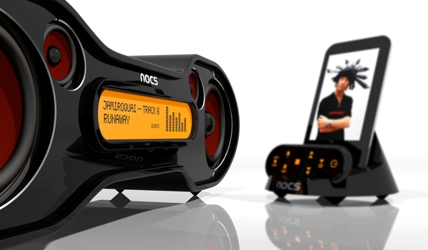NT Design Studio   Nocs Mp3 Docking Station high tech  sound nuno teixeira NT design srudio nocs music mp3 ipod iphone design index design concept