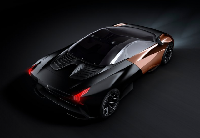 peugeot onyx 5 640x441 Peugeot Onyx Concept [VIDEO] video transport  transport supercar peugeot onyx high tech design index design concept car concept