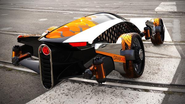 Firanse R3 par Luis Cordoba transport laplanetedesign transport supercar mexique luis cordoba impression 3D Firanse R3 design index design concept car concept 3D printing